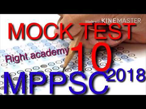 MOCK TEST 10 MPPSC 2018(Right Academy)