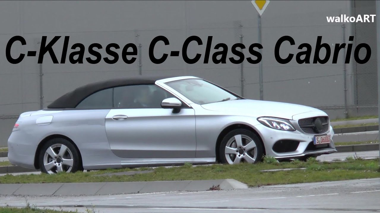 mercedes erlk nig c klasse cabrio 2016 wenig getarnt c class cabriolet spotted a205 few. Black Bedroom Furniture Sets. Home Design Ideas