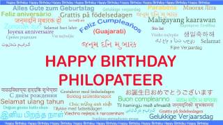 Philopateer   Languages Idiomas - Happy Birthday