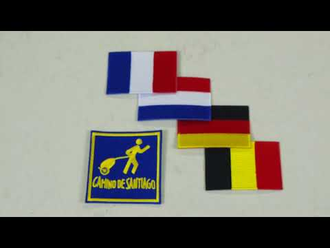Wheelie Camino And Flag Patches