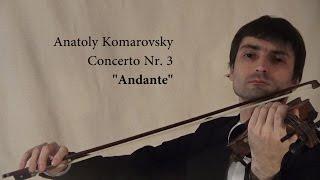 Komarovsky Concerto Nr. 3 - Andante