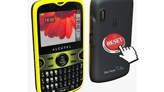 Hard Reset (Borrado de fabrica), formatear, Alcatel® OT-800a, funciona para cualquier compañia