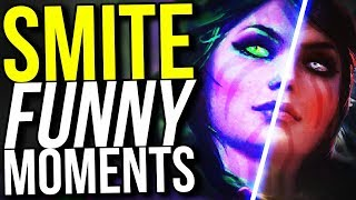 THE MORRIGAN 4V5 CARRY! (Smite Funny Moments)