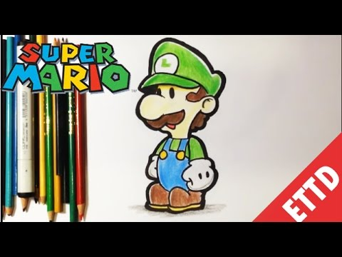 How To Draw Luigi From Super Mario Bros Easy Things To Draw Youtube
