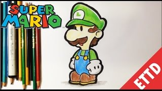 How to Draw Luigi from Super Mario Bros - Easy Things To Draw