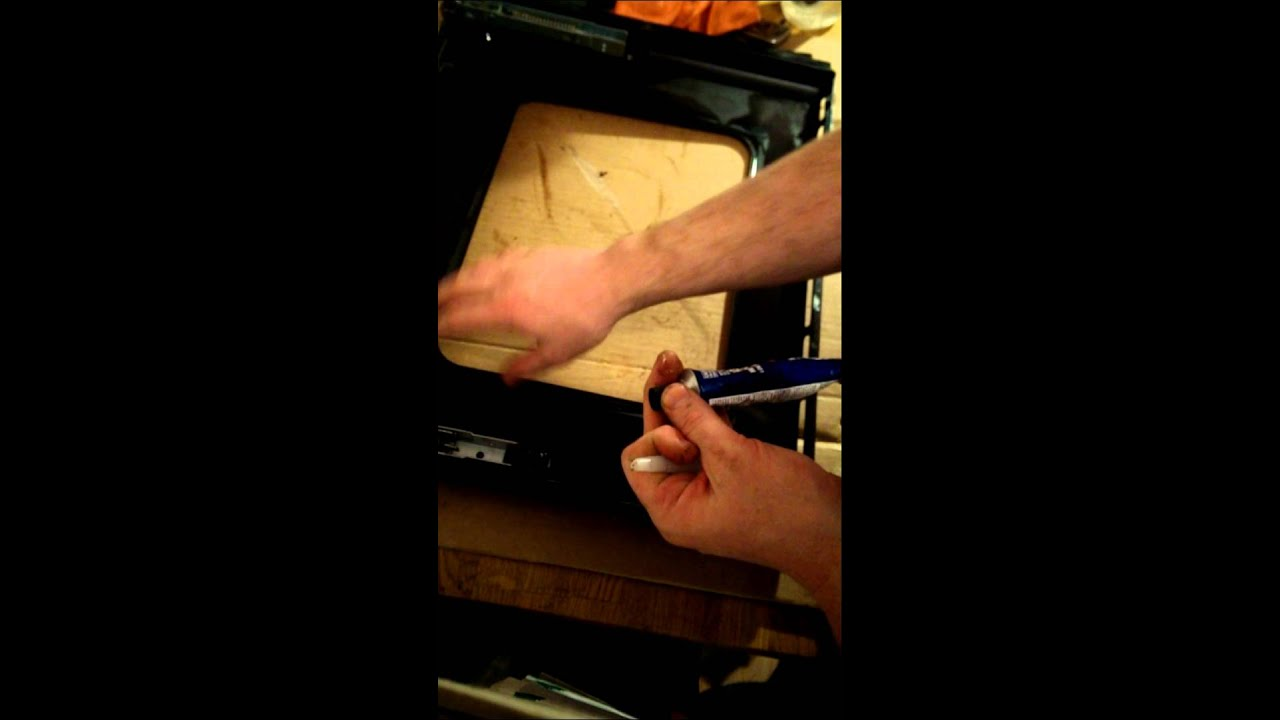 Re Sealing Oven Door Glass Youtube