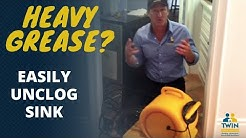 The Best Way To Unclog A Kitchen Drain With Heavy Grease!