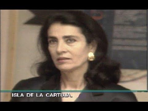 Irene Papas presenta el Manifiesto de la Cartuja  EXPO 92