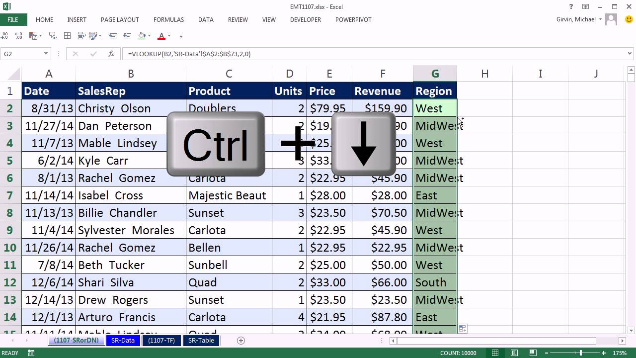 Excel Magic Trick 1107: VLOOKUP To Different Sheet: Sheet Reference ...