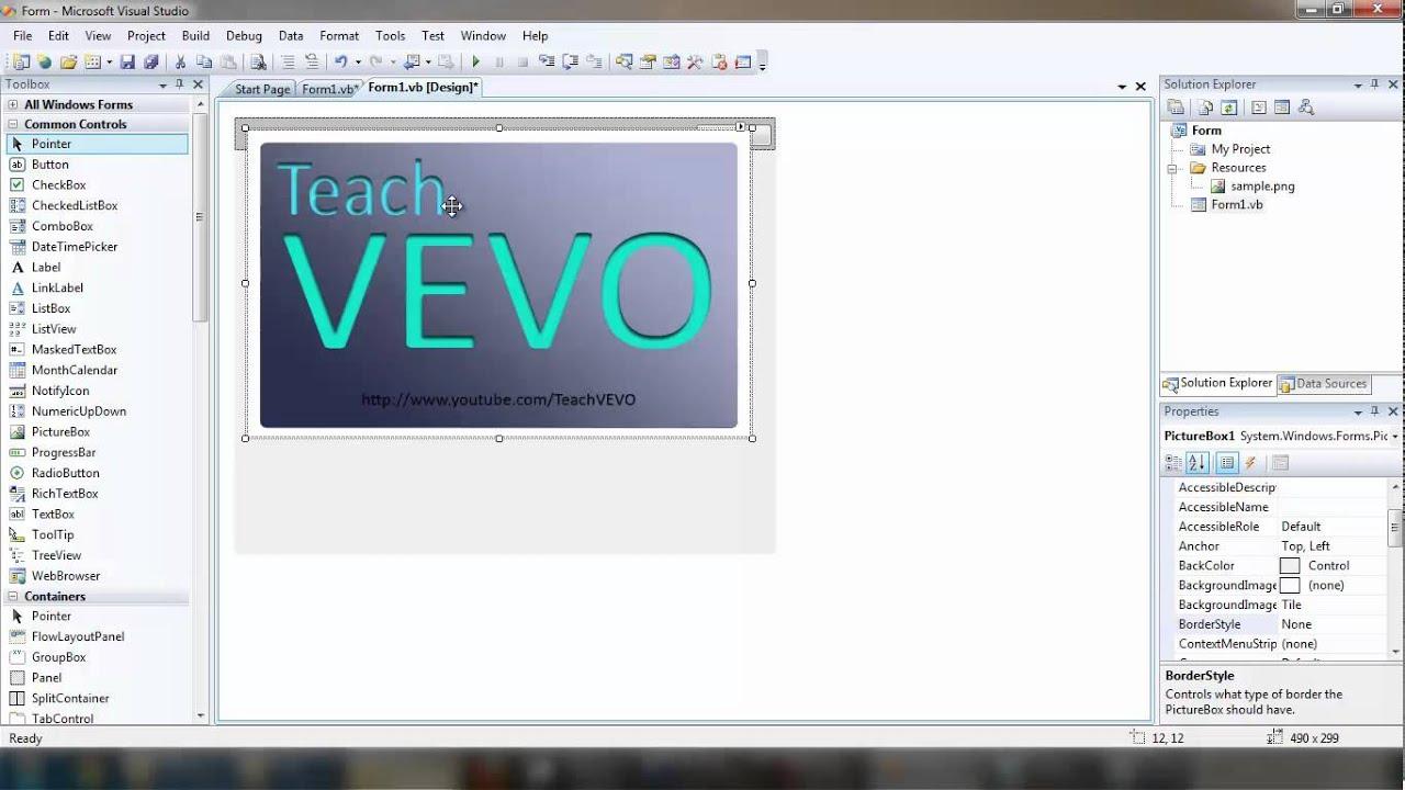 VB.net Form Designing - Movable Borderless form in Visual Studio ...