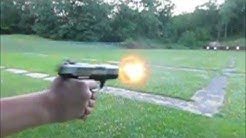 Pistol recoil on 22 cal 9 mm and 40 cal