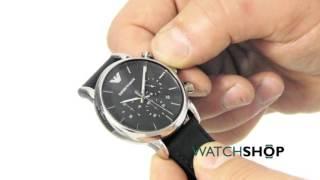 emporio armani men s chronograph watch ar1733