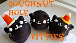 How To Make Halloween Apple Cider Doughnut Hole Kitties