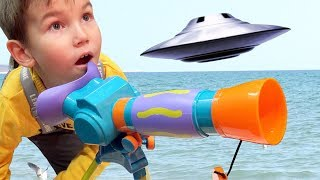Vlad and UFO surprise  Stories for kids from Vlad TV Show
