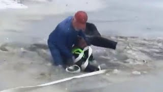11-Year-Old Boy Rescued After Falling Through Ice on Pond