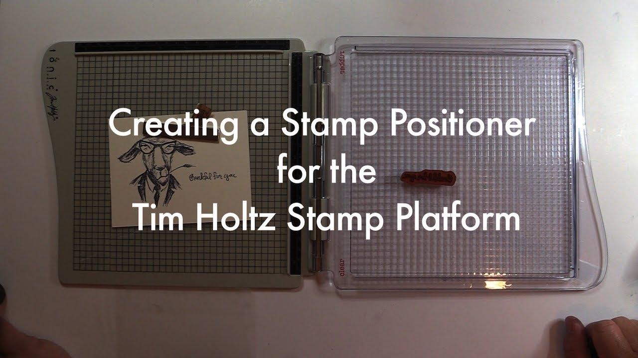 Add a grid to the tim holtz stamp platform mp3speedy net for Amazon stempel