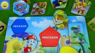 Paw Patrol Puzzle Teaching Shapes for Toddlers Best Learning Video for Kids Blaze Monster Machines