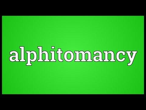 Header of alphitomancy