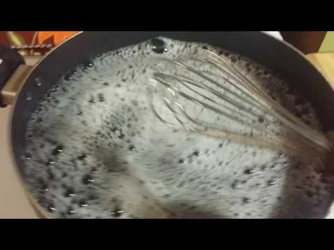 Cleaning a scorched non stick skillet, using pinterest hacks.  (Part 1)