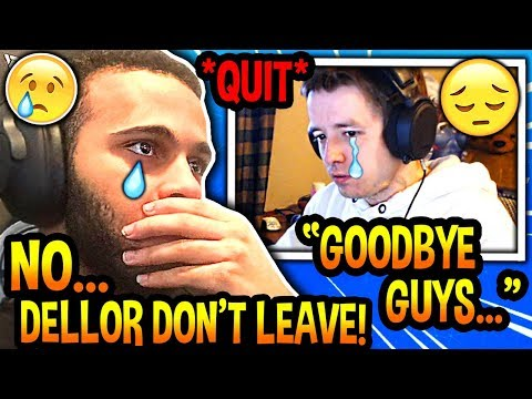 Hamlinz Reacts To Dellor *OFFICIALLY* QUITTING Streaming! (HEARTBROKEN!) Fortnite SAD Moments