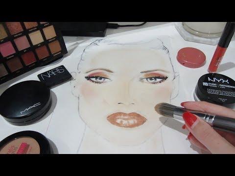 Relaxing Face Chart Makeup Application [ASMR]