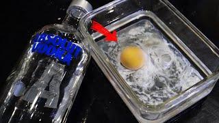 계란에 술을 부으면 계란이 익는다고!?!! 실화냐?!?