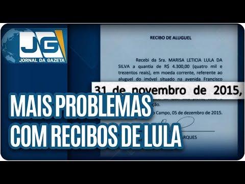 Mais problemas com recibos de Lula