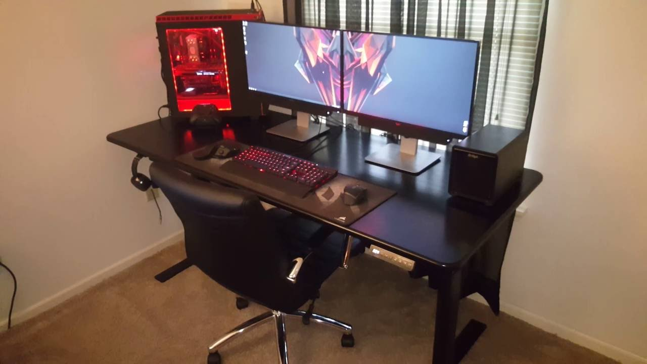 desk setup youtube. Black Bedroom Furniture Sets. Home Design Ideas
