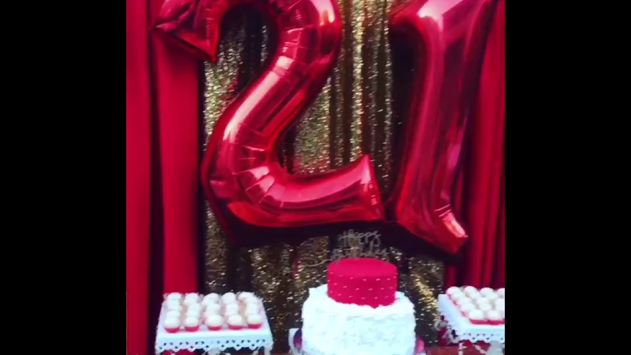 21st Birthday Celebration Dessert Table Backdrop