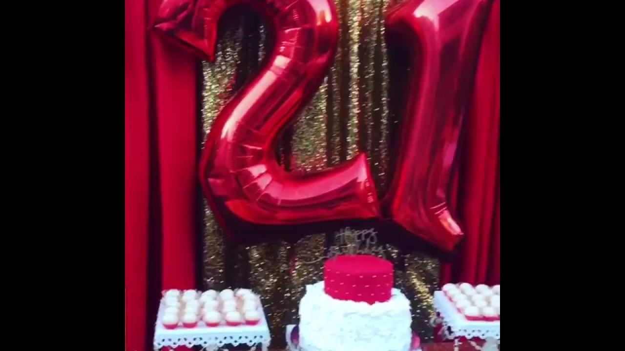 21st birthday celebration dessert table backdrop youtube