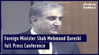 Foreign Minister Shah Mehmood Qureshi full Press Conference | Samaa TV | June 27, 2019