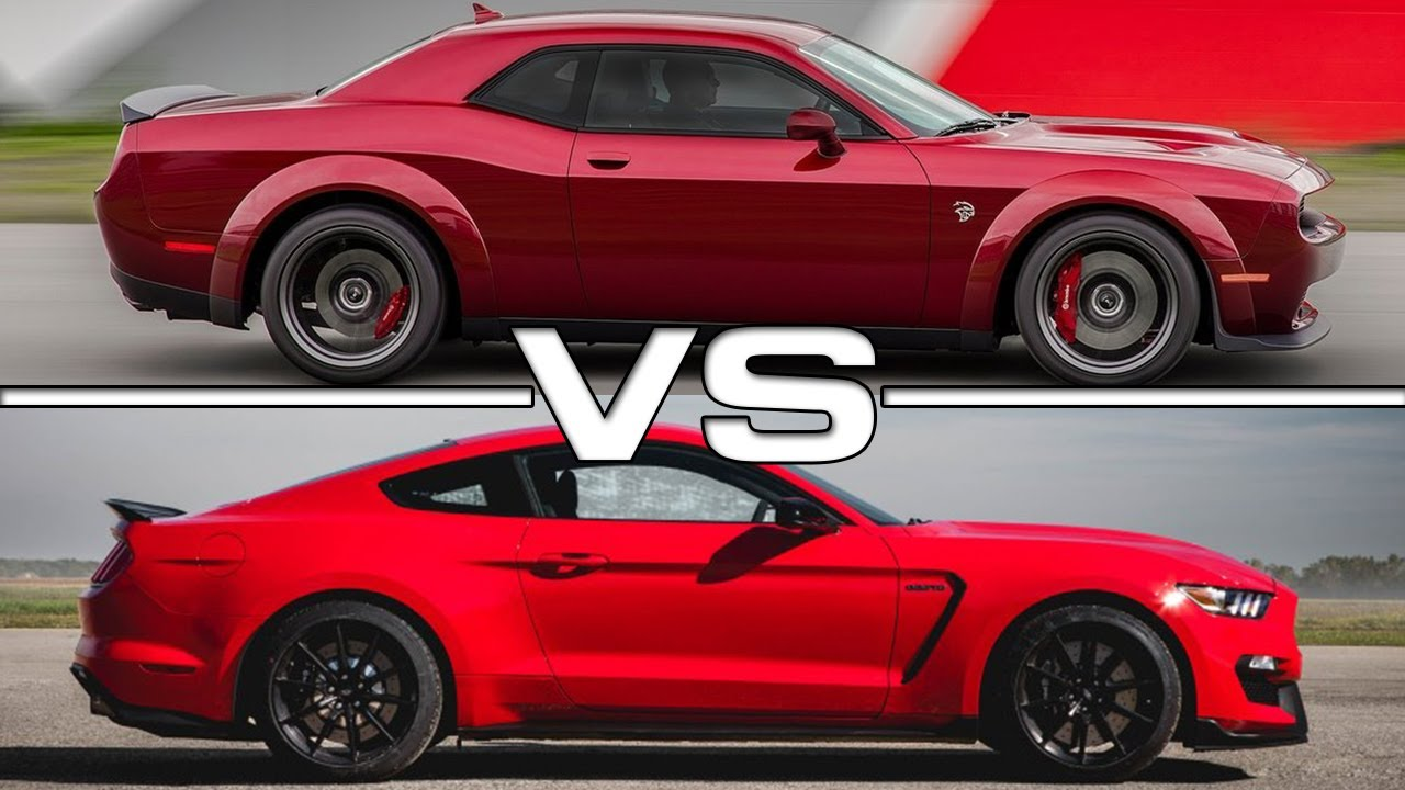 2018 Dodge Challenger Srt Hellcat Widebody Vs 2017 Ford