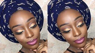 Download Video Nigerian Party Makeup & Round Multi Pleats Aso-Oke Gele Tutorial MP3 3GP MP4