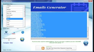 Emails Generator Software – Free 3 Days Trial