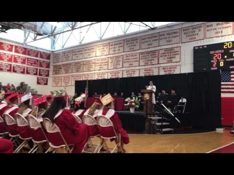 Trisha Kutkiewicz, keynote speaker at Center Moriches High School 2017 Graduation