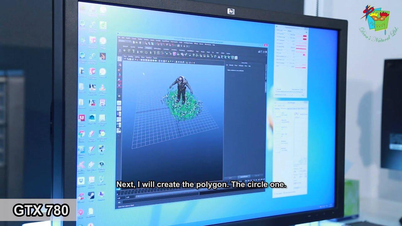 ทดสอบการใช้งาน : GEFORCE GTX 780 vs QUADRO K5000 with 3D Maya 2014 (  English subtitle )
