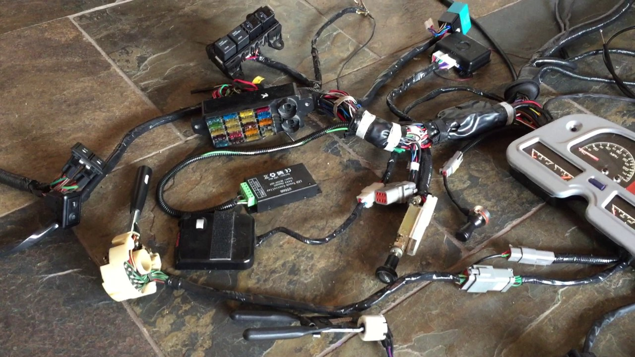 1972 Fj40 Wiring Harness Automotive Diagram Ez Go Solenoid Toyota Resto Mod Youtube Rh Com