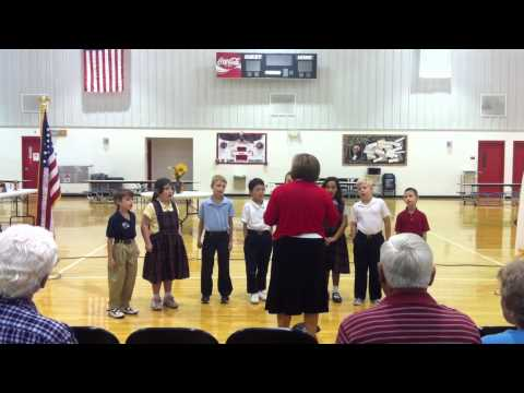 Anchored Christian School Grades 1-3 Sing a Song for Grandparent's Day