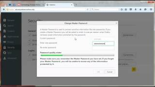 Firefox Tips: How to set up a master password