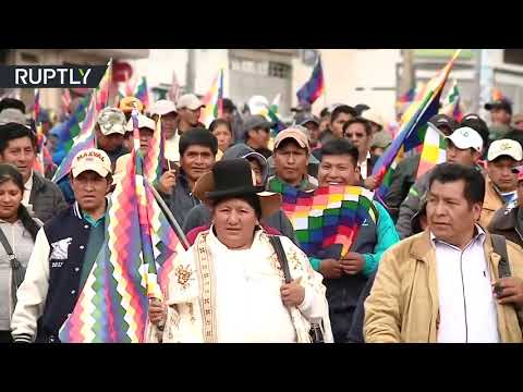 RT: Thousands of supporters of ex-Bolivian President Morales marched in La Paz