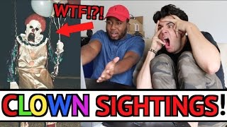 BEST CLOWN SIGHTINGS COMPILATION 2016 (TOP 10) REACTION!