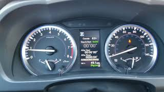 Part 1 Toyota Highlander Instrument cluster