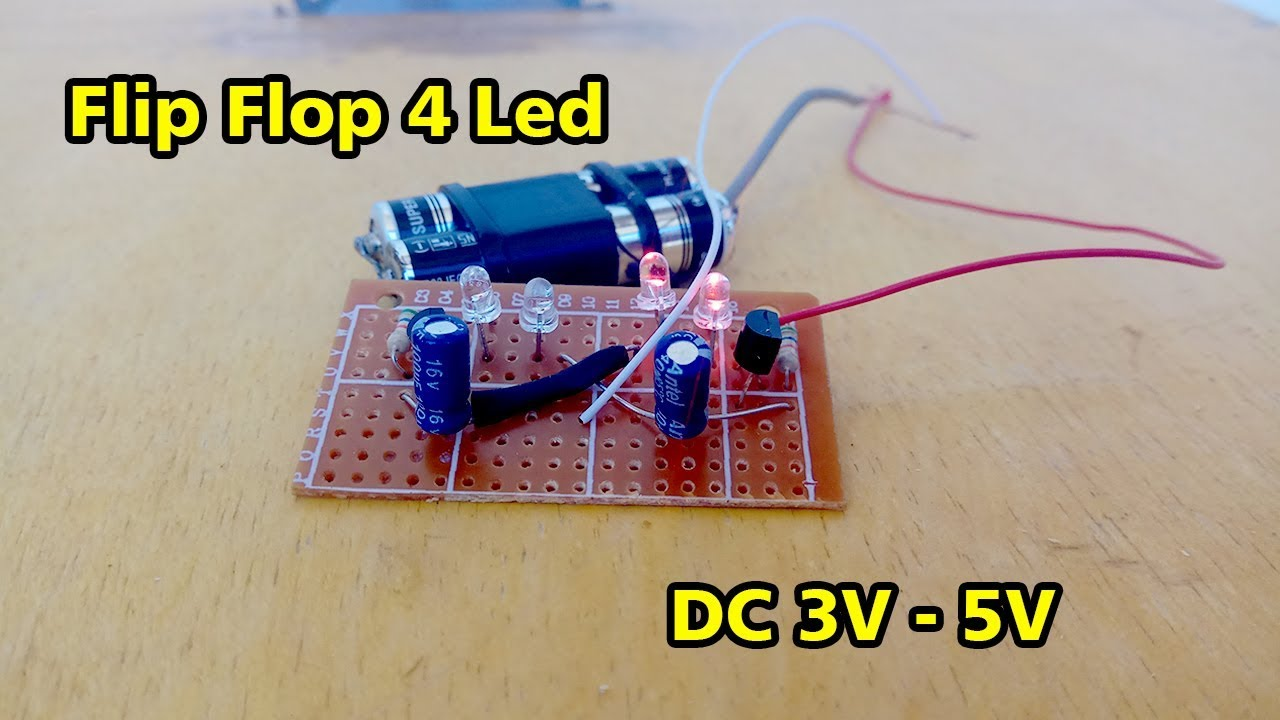 Membuat Lampu Flip Flop 4 Led 3v 5v Youtube