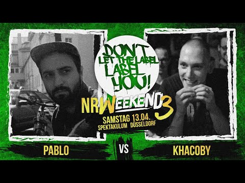 Pablo vs Khacoby // DLTLLY RapBattle (NRWeekend3 // Düsseldorf) // 2019