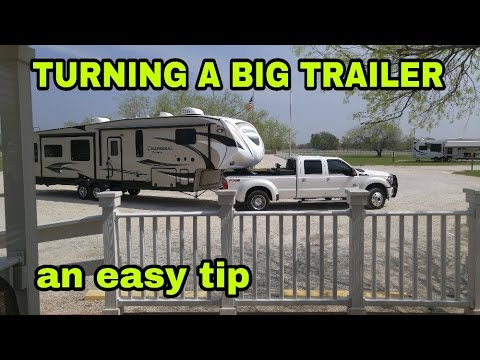 Turning A Fifth Wheel Or Travel Trailer Towing Tip Youtube