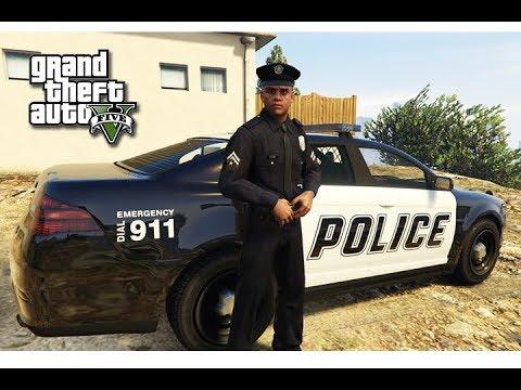 قراند 5 : مود الشرطة 🚨 |#1 حصلت عمل ضابط شرطة 👮 في قراند !!