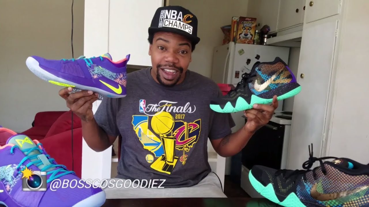 NIKE KYRIE 4 & PG 2 MAMBA MENTALITY PACK REVIEW + ON FEET