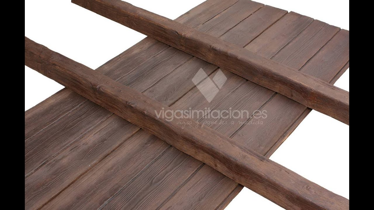 Vigas imitacion a madera economicas youtube - Vigas decorativas imitacion madera ...