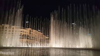 Dubai Fountain November 2016 Mix of Songs نافورة دبي نوفمبر 2016