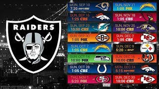 Oakland Raiders 2018 NFL Schedule Predictions/Outcomes